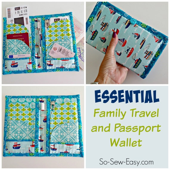 Family Travel And Passport Wallet Pdf Sewing Pattern