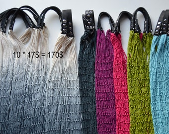 Super sale! 50% discount! Set of ten eco bags, string bags, fishnet bags