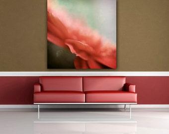 Pastel Pink Flower Photograph, Gerbera Daisy Photo, Dusty Rose Pink Floral Photo, Macro Photograph, Botanical Photo Print, Square Wall Art