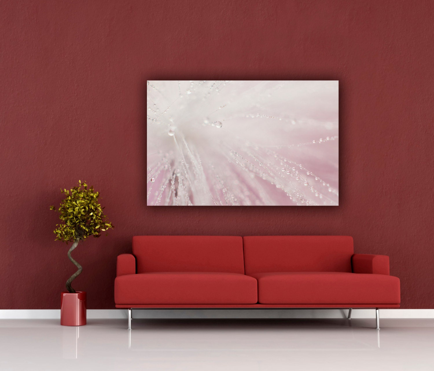 Wall Decor Horizontal : Wispy photography girls room horizontal wall art pink macro