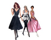 1980s Vogue 7053 Sexy EVENING GOWN PATTERN Cocktail Dress Pattern Dress Top Skirt Pattern 2-Piece Bust 32.5 UNCuT Womens Sewing Patterns
