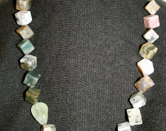 No. 26: Ocean Jasper and Prehnite Necklace