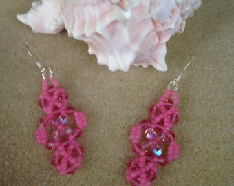 Colorful Beadwoven Earrings