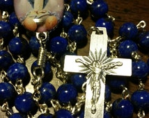 Natural Lapis Rosary