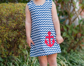 """Navy and White Chevron Fabric by the yard 60"""" wide,high quality"""