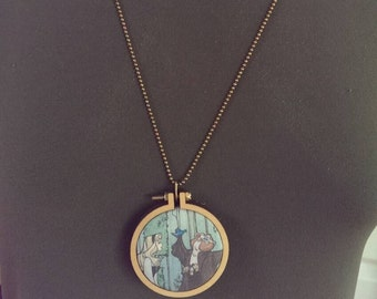 Visions Whovian hoop necklace featuring Karen Hallion artwork