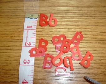 Plastic letter b etsy for Small plastic letters for signs