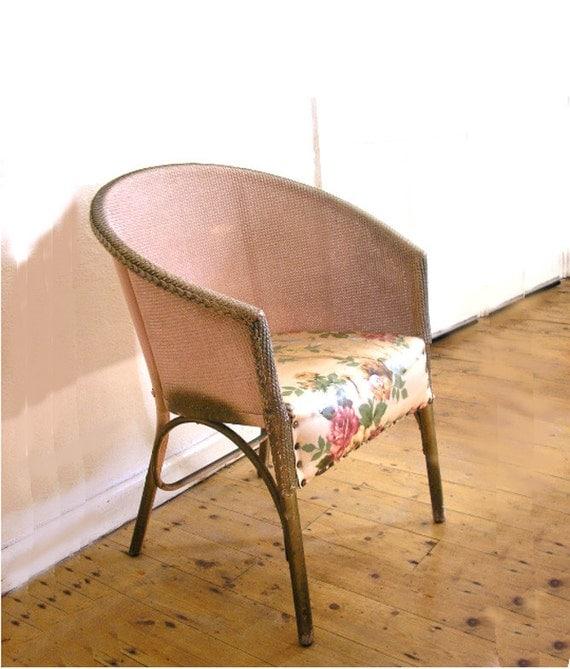 Vintage Sirrom Loom Chair Shabby Chic Bedroom Chair Lloyd