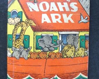 Vintage Noah's Ark Children's Book  1941  Rand McNally