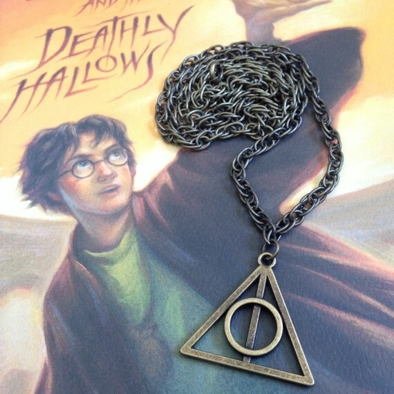 Harry potter inspired deathly hallows necklace elder wand for Deathly hallows elder wand