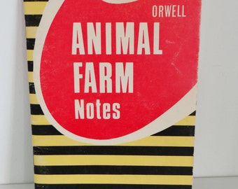 Vintage Book Animal Farm Revision Notes Published by Coles 1969 No. 986 By George Orwell
