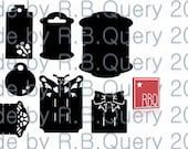 Plotterdatei Halter Tag Schild Hase Haarspange Schmetterling SVG DXF PNG Jpeg gewerbliche Nutzung
