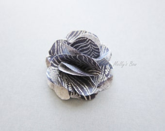 Men's Lapel Flower - Wedding Boutonniere - Tuxedo Corsage - Buttonhole - Flower Lapel Pin - Nebura Sky Metallic Feathers