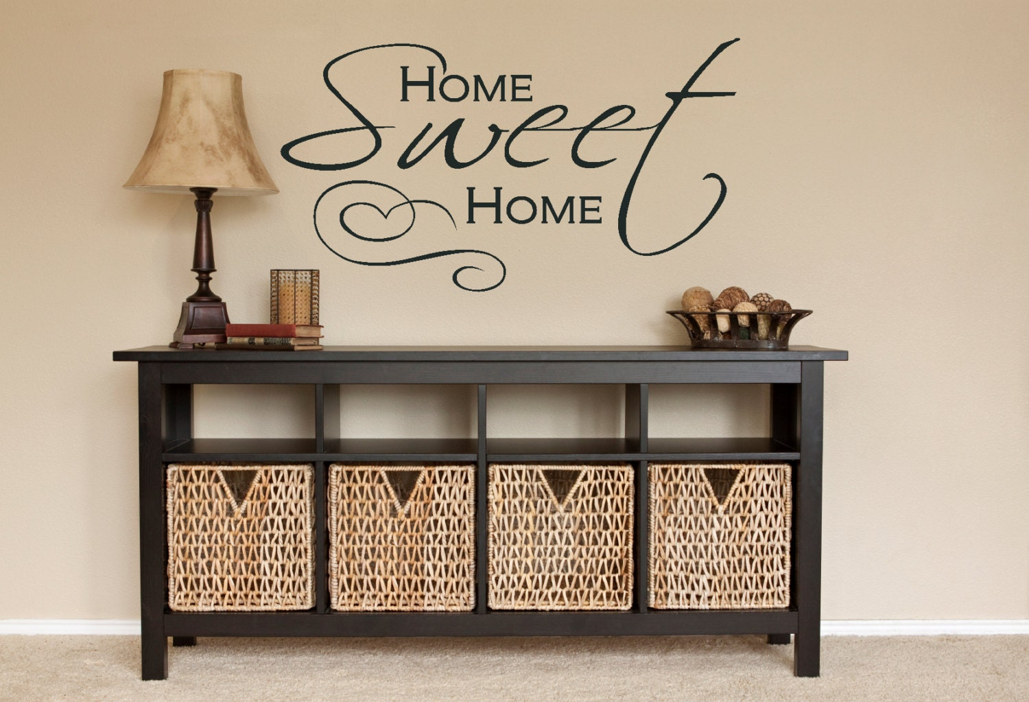 Wall decor home sweet home wall decal by amandasdesigndecals Home sweet home wall decor