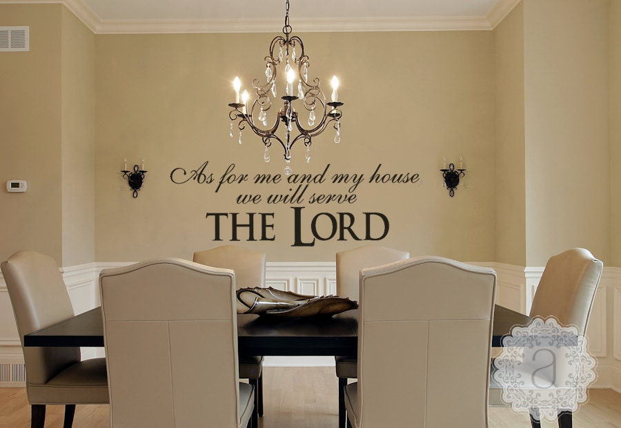 Family Wall Decal Christian Wall Decal As For Me And My