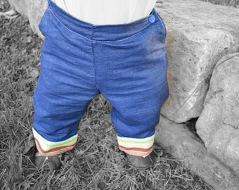 Beanstalk Britches OS Cloth Diaper Jeans PDF Pattern