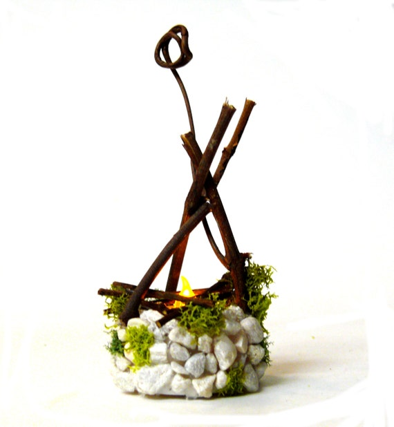 Fairy garden fire pit accessories fire pit flickering flame for Garden accessories canada