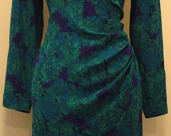 1970's Vintage Silk Wrap Dress