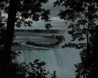 Niagara Falls, original photo print, waterfall, landscape, Canadian falls, nature lovers gift, print sizes 8x10, 16x20, 20x30 inches