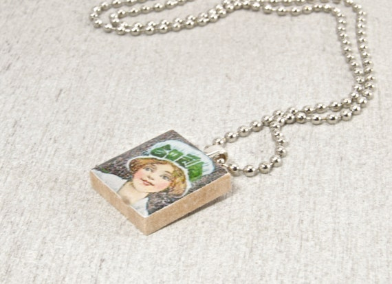 Lady Luck of the Irish Scrabble Tile Pendant