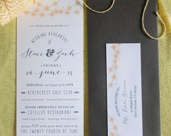 Rehearsal Dinner Invitation - Summer Lights