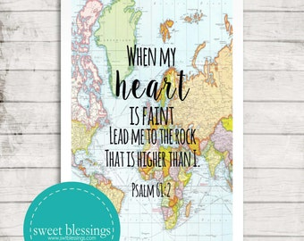 Psalm 61:2 Print Instant Download