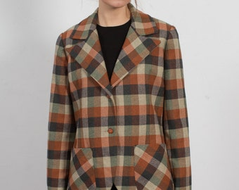 Vintage Autumnal Ivy League Blazer