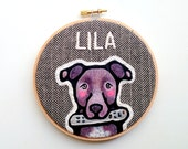 Custom Dog Portrait & TOY - Custom Portraits - Pet Portrait - Embroidery Hoop Art - Pet Lovers - Gift for Pet Lovers