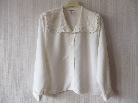 White Blouse Large Collar 6