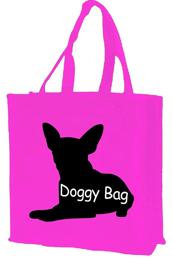 Doggy Silhouette Cotton Shopping Bag with gusset and long handles, 3 colour options