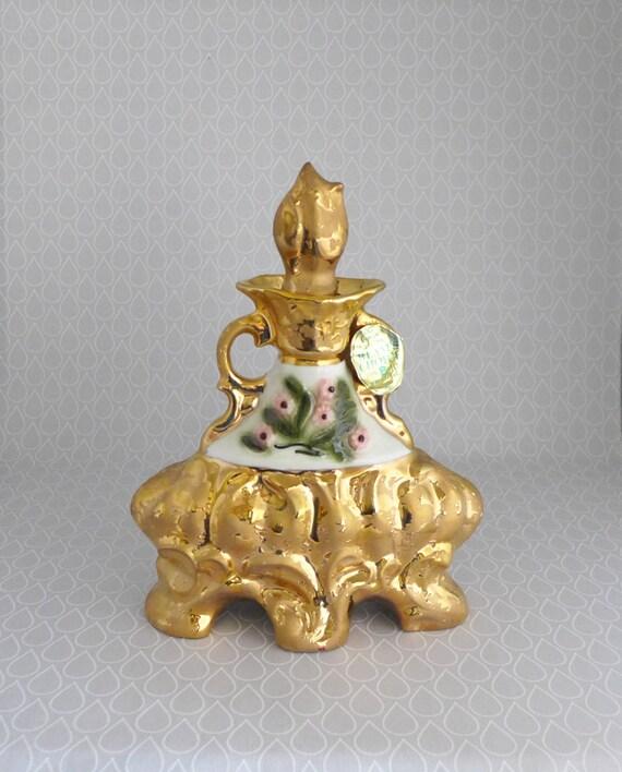 Items Similar To Jim Beam Decanter Gold Ceramic Bottle