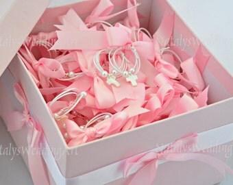 Martirika / Martyrika 2 in 1 Witness pins - 150 Witness bracelets in Pink Greek Orthodox Baptism Chistening PINK or BLUE