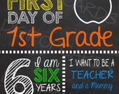 First Day of School Custom Sign - Printable 8x10 First Day of School Photo Prop Sign Memory Book Scrapbook Picture