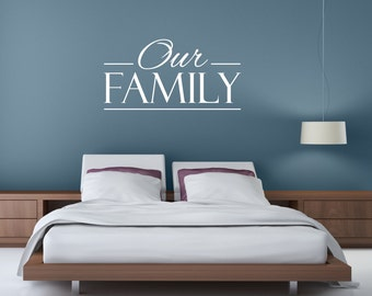 Family Wall Decal   Our Family   Family Quotes   Family Wall Art   Family  Wall