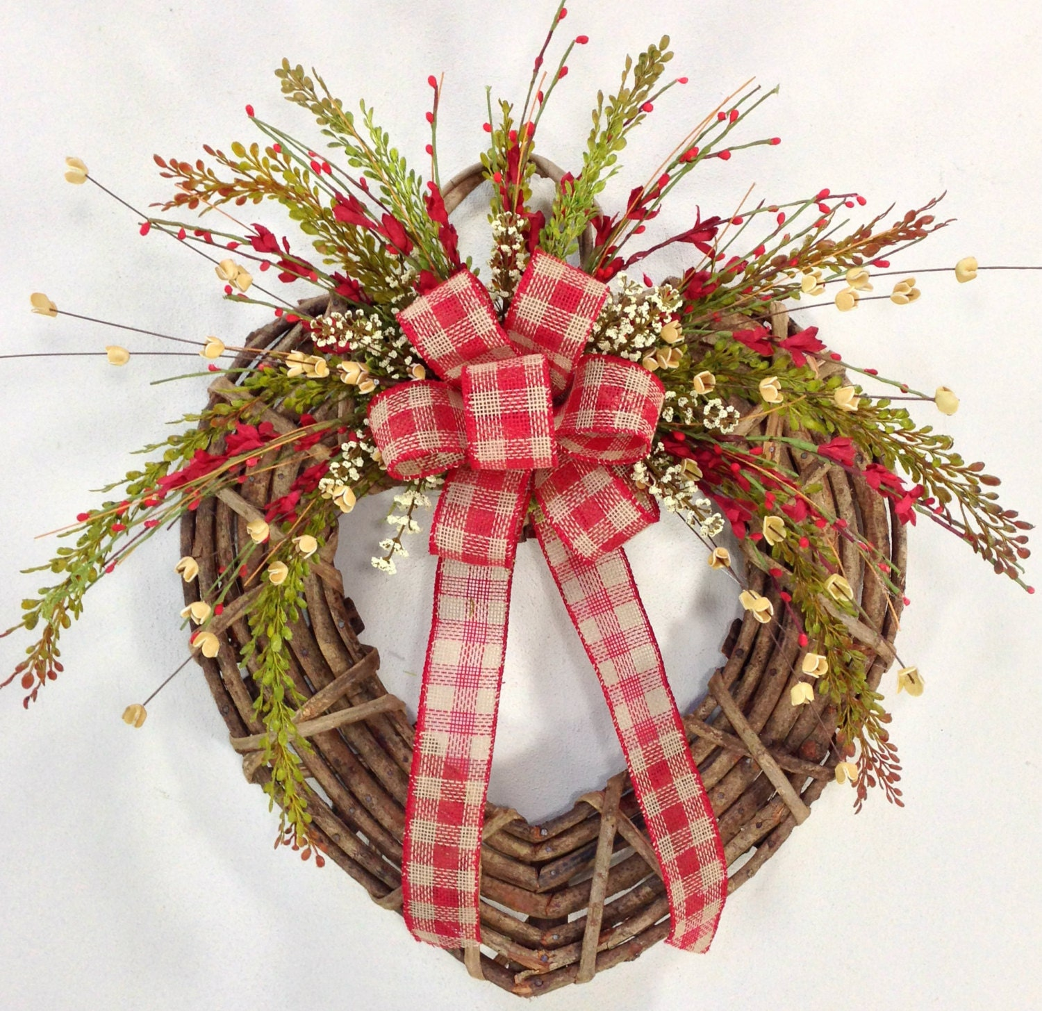 Valentine Wreath Heart Wreath Rustic Wreath Twig Heart