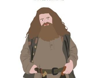 Birthday card - Harry Potter card - Hagrid - Happee Birthdae