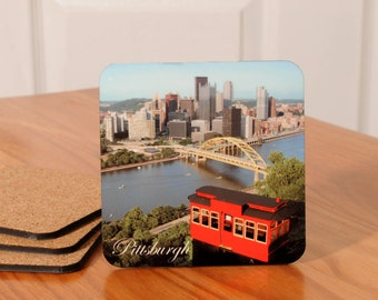 Pittsburgh Incline/Skyline Coasters - set of 4