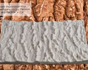 Silicone mould (mold) - 'Bark' Impression Mat by FPC Sugarcraft