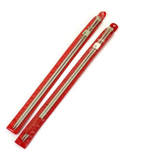 Knitting Needles Uk Flights : Items similar to aero knitting needles size vintage
