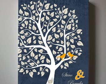 Personalized Family Tree Canvas Wall Art - Home Decor Personalized Gift For Wedding Anniversary
