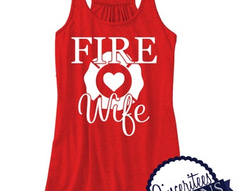 FIRE WIFE Tank Top Ladies/womens Racerback Tank