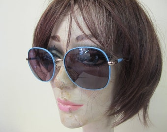 1980 Sunglasses Blue Metal Eyeglasses Tura Blue Eyeglasses Mod