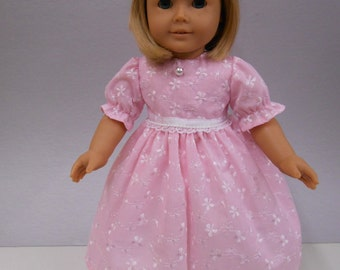 Pink Eyelet Party Dress and Matching Headband