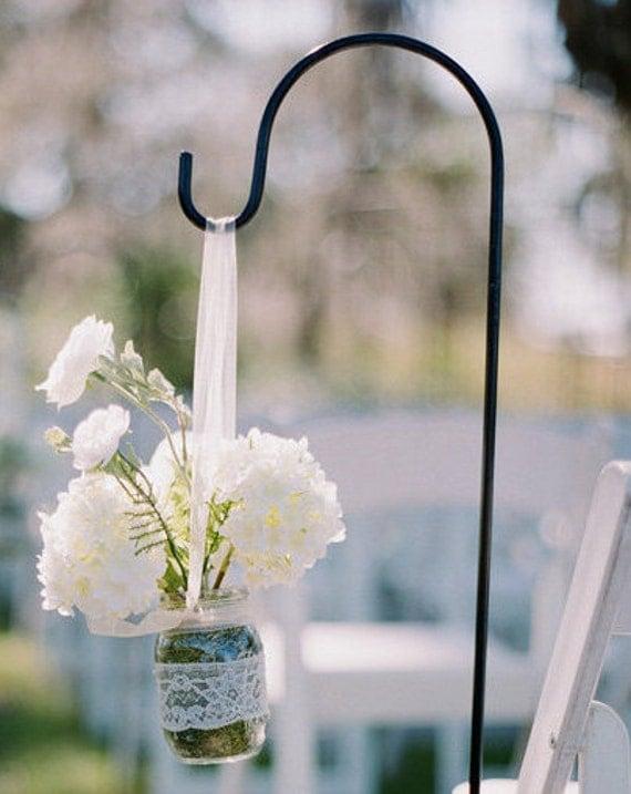 Wedding or Garden Shepherd Hooks Set of 10 Perfect for Mason
