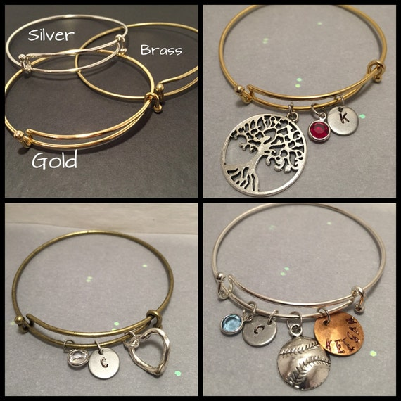 Design Your Own Custom Bangle Charm Bracelet Pick Your Charms: Items Similar To Create Your Own Charm Bracelet Add A