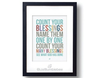 Printable Hymn Count Your Blessings See What God Has Done, Subway Art, Instant Download Print Printable Gratitude Home Decor Digital Art