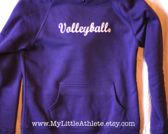 Volleyball Hooded Sweatshirt - Apparel - Gifts - Clothing - Athletic Wear -