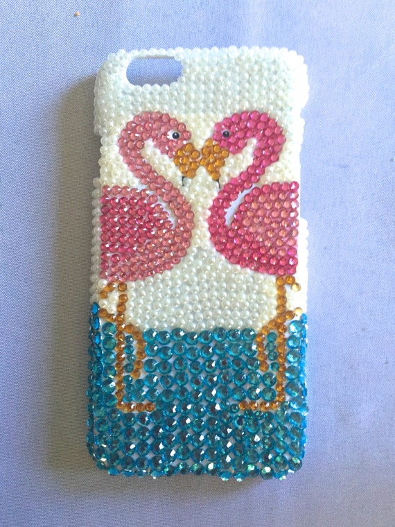 Rhinestone Flamingo Phone Case