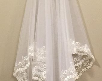 Music Note Wedding Veil