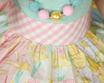 M2M Matilda Jane Hello Lovely Chunky Bubblegum Bead Necklace-Mixed color pastels -Easter, birthday gift, photo prop